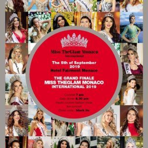 Miss the Glam Monaco International 2019